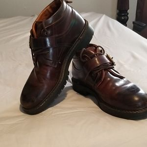 Johnston & Murphy ankle buckle boots